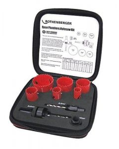 Rothenberger Plumbers Hole Saw Kit